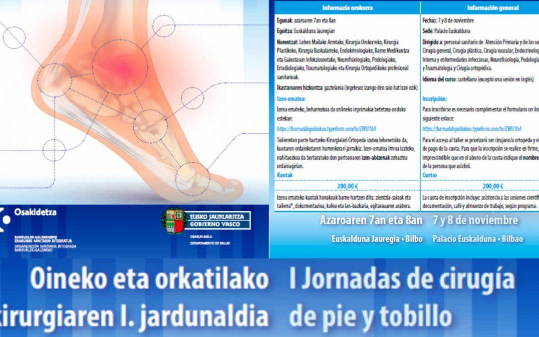 I Jornada de Cirugía de Pie y Tobillo