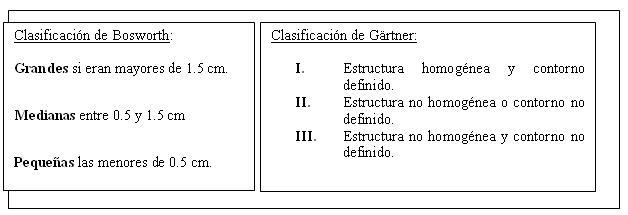 Clasificación radiológica de las calcificaciones del hombro